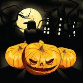 Terrible pumpkin — Stock Vector