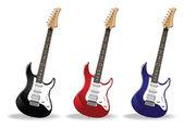Guitarras realistas — Vetorial Stock