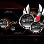 Glossy futuristic speakers — Stock Vector #1450574