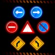 Set of vector road signs — Stock Vector