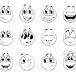 Постер, плакат: Set of positive smiles balls