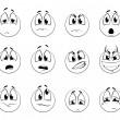 Set of negative smiles-balls — Image vectorielle