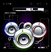 High tech speakers — Stock Vector