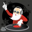 Stock Vector: DJ Santa
