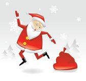 Dancing Santa — Stock Vector