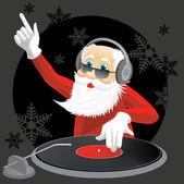 DJ Santa — Stock Vector
