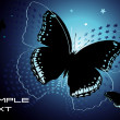 The black butterfly — Stock Vector