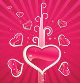 Love horoscope — Stock Vector