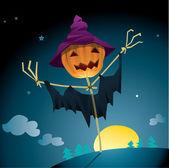 Pumpkin scarecrow — Stock Vector