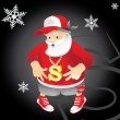 Santa Claus rapper — Stock Vector