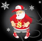 Santa Claus rapper — Stock Vector