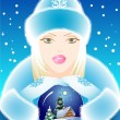 Stock Vector: Snow Maiden
