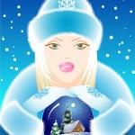 Snow Maiden — Stock Vector