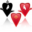 Royalty-Free Stock Векторное изображение: Hearts