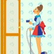 Royalty-Free Stock Vector Image: Chambermaid