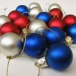 color christmas balls — Stock Photo