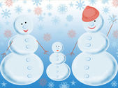 Three snowballs — Stock Photo