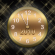 Gold clock — Stock Photo