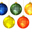 Stock Photo: Christmas globes