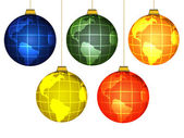Christmas globes — Stock Photo