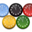 Foto Stock: Olympic clocks