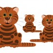 Royalty-Free Stock Photo: Three tigers