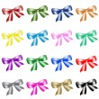 Royalty-Free Stock Photo: Series of colour bows