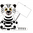 White tiger - symbol east new 2010 year — Stock Photo
