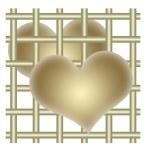 Hearts and bars — Stock Photo