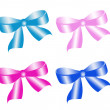 Set of bows — Stock Photo