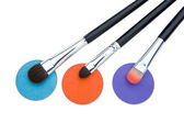 Cosmetics and brushes for a make-up on a — Stock Photo