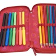 Stock Photo: Case with colour pencils and felt pens