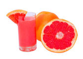 Orange freshness grapefruit with juice — Stock Photo