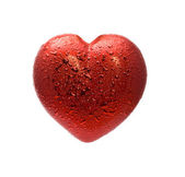 Red heart over white background — Stock Photo