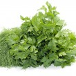 Dill and celery over white - Stockfoto