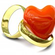 Two gold rings — Stock Photo
