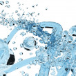 Blue colour water splash — Stockfoto