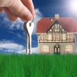Nice house on grass — Stock Photo #1162638