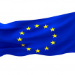 Flag of europe on white — Stock Photo