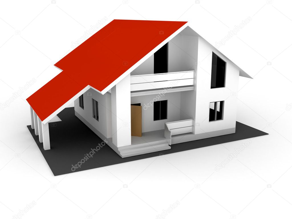 Individual house for sale . 3d render — Stock Photo #1683656