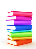 Stack of Books on white background — Stock Photo