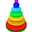 Toy pyramid over white background — Stock Photo #2416903