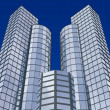 3d abstract skyscrapers — Stock Photo