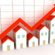 Group of houses on sale — Stock Photo
