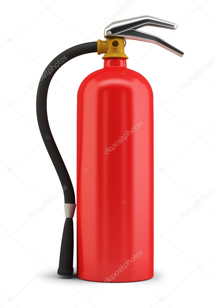 Fire extinguisher. 3d image. Isolated white background. — Stock Photo #1624797