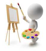 3d small - painter — Stock Photo
