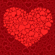 Valentine seamless background. Vector il — Stockvektor