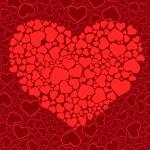 バレンタインのシームレスな背景。il をベクトルします。 — ストックベクタ