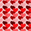 Valentine seamless background. Vector il — Stockvectorbeeld