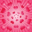 Valentine background. Vector illustratio — Vector de stock